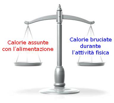 Bilancio calorico giornaliero